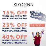 Kiyonna up to 40% off coupon