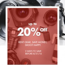 BorrowLenses Coupons – 20% Off Summer Sale