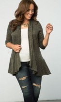 Love Story Cardigan, Olive You (Women's Plus Size) $68.00