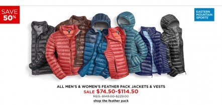 Apparel and Accessories Black Friday Sale at Eastern Mountain Sports Plus Extra 20% Off with Coupon