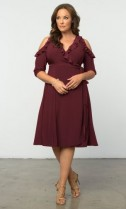 $25 off Barcelona Wrap Dress, Black Noir (Women's Plus Size) Now $83 Only