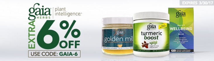 Gaia Herbs save an extra 6% off