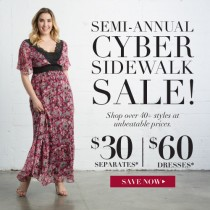 $30 Separates & $60 Dresses in Kiyonna's Semi-Annual Cyber Sidewalk Sale