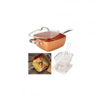 4-pc Square Non-stick 6-in-1 Cookware Pan Set $40 with Free Shhipping