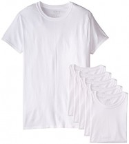 Men's Stay Tucked Crew T-Shirt – Fruit of the Loom  – Medium – White (Pack of 6) $18.99