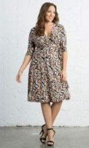 Essential Wrap Dress, Pink Safari Print (Women's Plus Size) $88.00