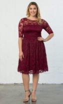 Luna Lace Dress, Rose Wine (Womens Plus Size) $148.00