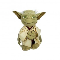 "Star Wars ""Yoda Softie"" Plush Backpack Kids Bag with Zipper Pouch $8.95"