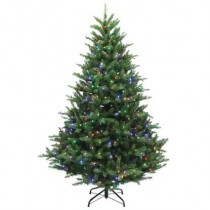 Christmas Tree Pre-Lit 7ft Green Multi-Colored Mcleland Design for $44.79 with free shipping