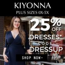 25% off All Dresses including Bridal at Kiyonna.com Thru 12/22