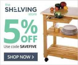 Shelving Store Coupon – Save 5% On All Orders