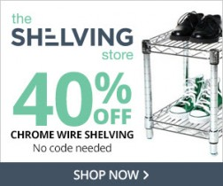 40% Off Chrome Wire Shelving at The Shelving Store