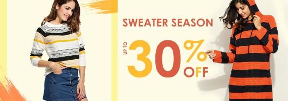Women's Winter Sweater 30% Off Thru Dec 31, 2017