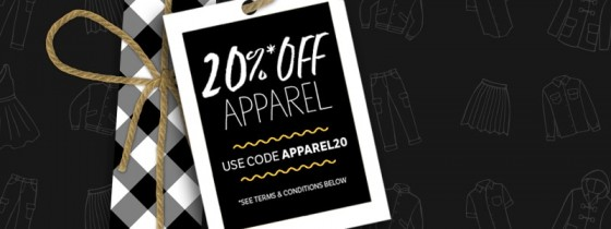 Rakuten – 20% off apparel and shoes through 12/18