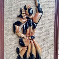 Baul Terracotta Framed Figurine